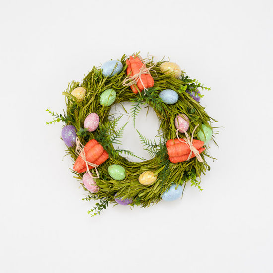 CARROT AND EGG EASTER WREATH