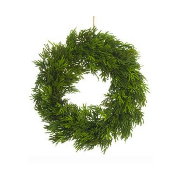 CEDAR WREATH ORNAMENT