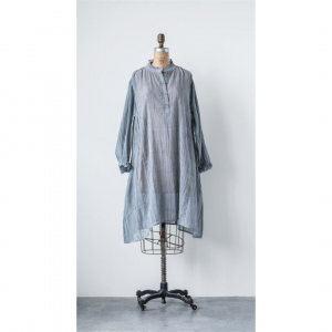 CHARCOAL GAUZE LAYLA DRESS