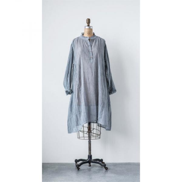 CHARCOAL GAUZE LAYLA DRESS