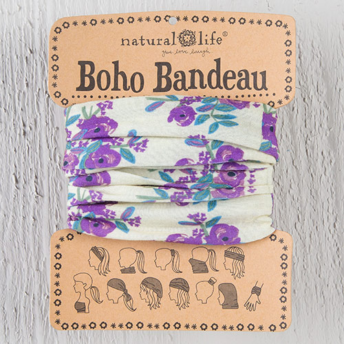 CREAM BLOOMS BOHO BANDEAU