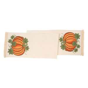 CREWELWORK PUMPKIN TABLE RUNNER