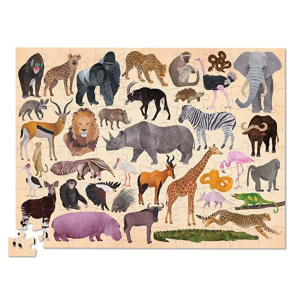 CROCODILE CREEK 36 PUZZLE WILD ANIMALS