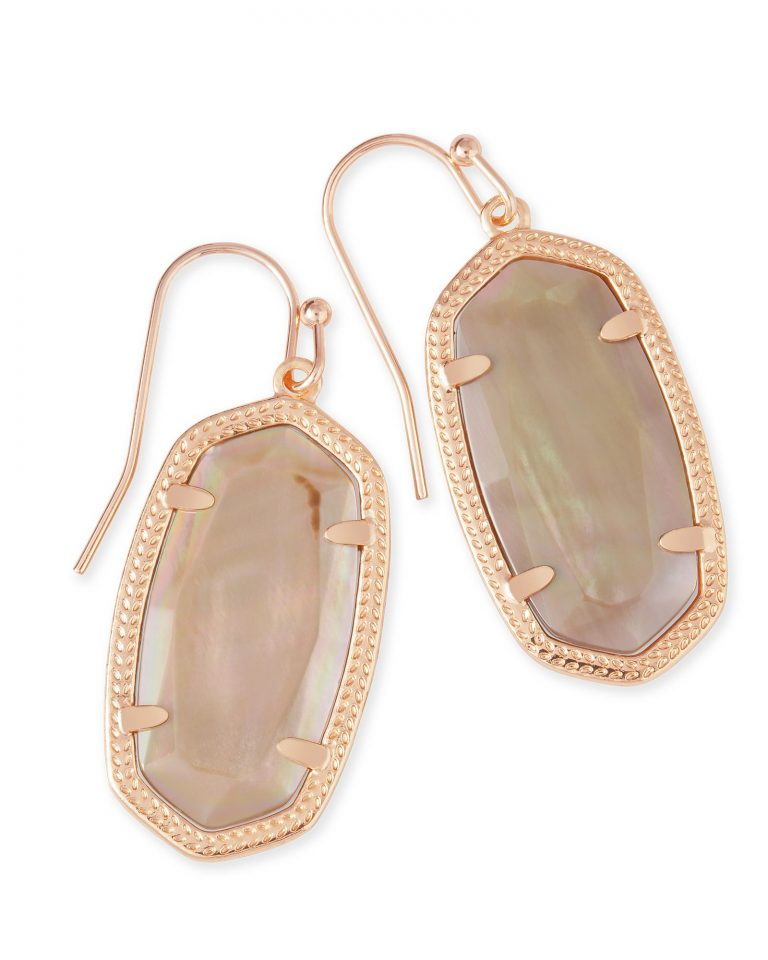KENDRA SCOTT DANI EARRINGS IN ROSE GOLD