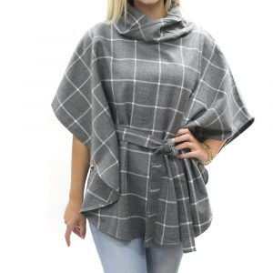 DANIELLE BELTED PONCHO