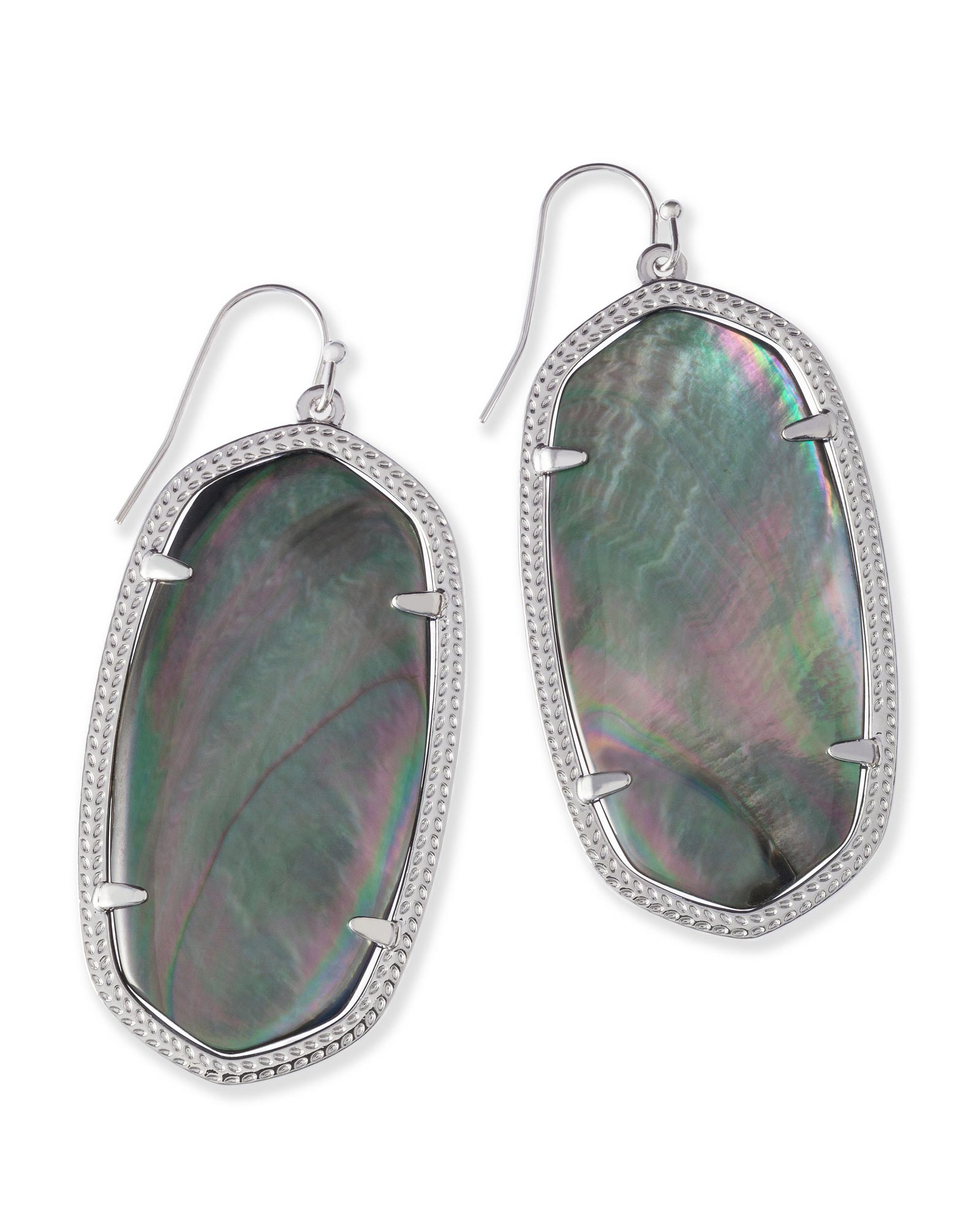 KENDRA SCOTT DANIELLE EARRING IN RHODIUM