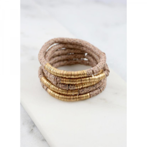 DARLA DISC BEAD STRETCH BRACELETS