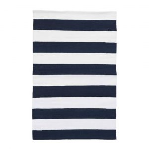 DASH & ALBERT CATAMARAN STRIPE INDOOR/OUTDOOR RUG - NAVY