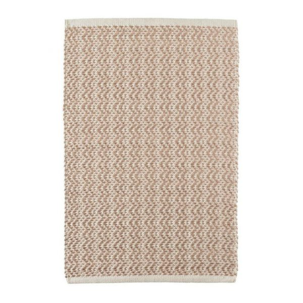 DASH & ALBERT GLIMMER WAVE WOVEN RUG - ROSE GOLD