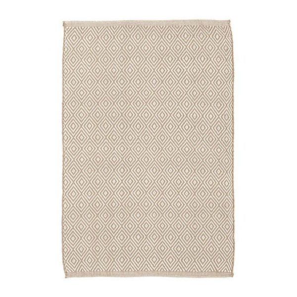 DASH & ALBERT PETITE DIAMOND INDOOR/OUTDOOR RUG - KHAKI