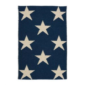 DASH & ALBERT STAR INDOOR/OUTDOOR RUG - NAVY