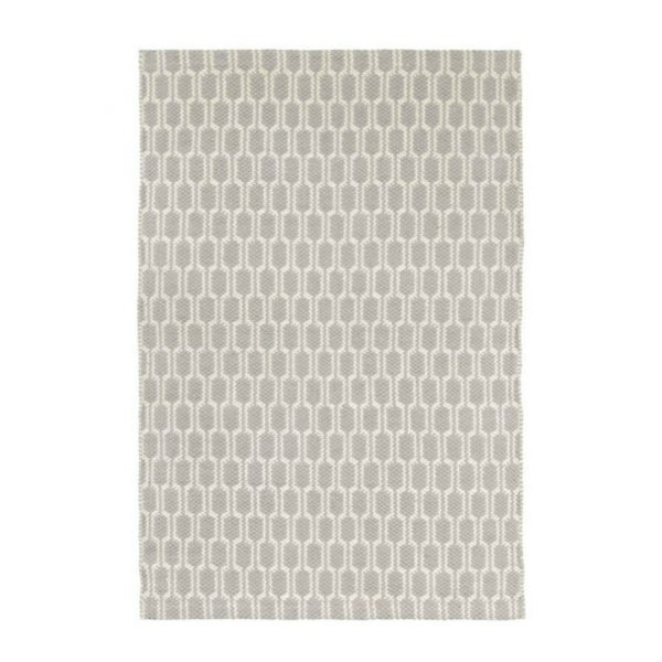 DASH & ALBERT TERRA WOVEN COTTON RUG - GREY