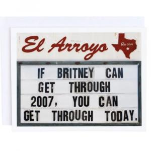 EL ARROYO BRITNEY GREETING CARD