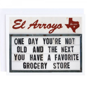 EL ARROYO GROCERY STORE GREETING CARD