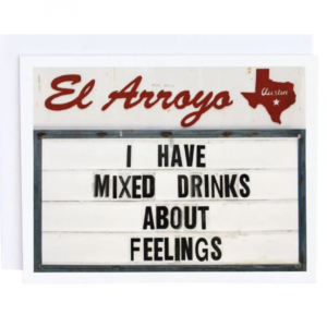 EL ARROYO MIXED DRINKS GREETING CARD