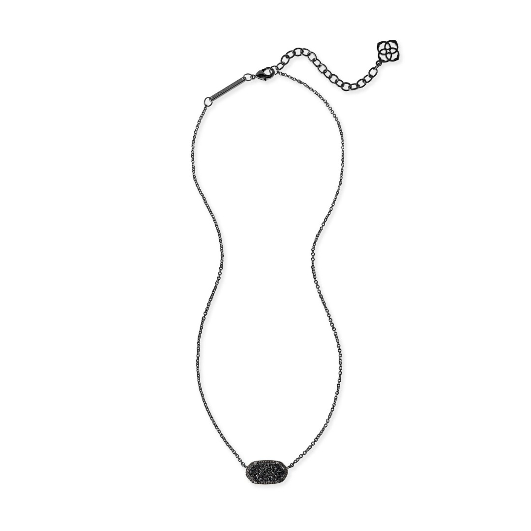 KENDRA SCOTT ELISA NECKLACE IN GUNMETAL