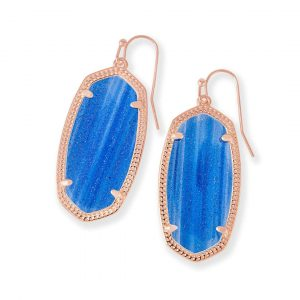 KENDRA SCOTT ELLE EARRINGS IN ROSE GOLD