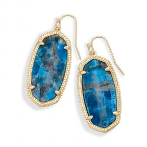 KENDRA SCOTT ELLE EARRINGS IN BRASS