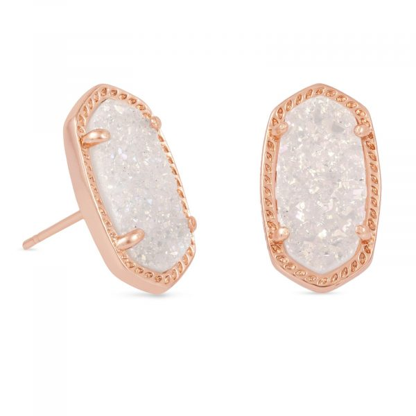 KENDRA SCOTT ELLIE EARRINGS IN ROSE GOLD