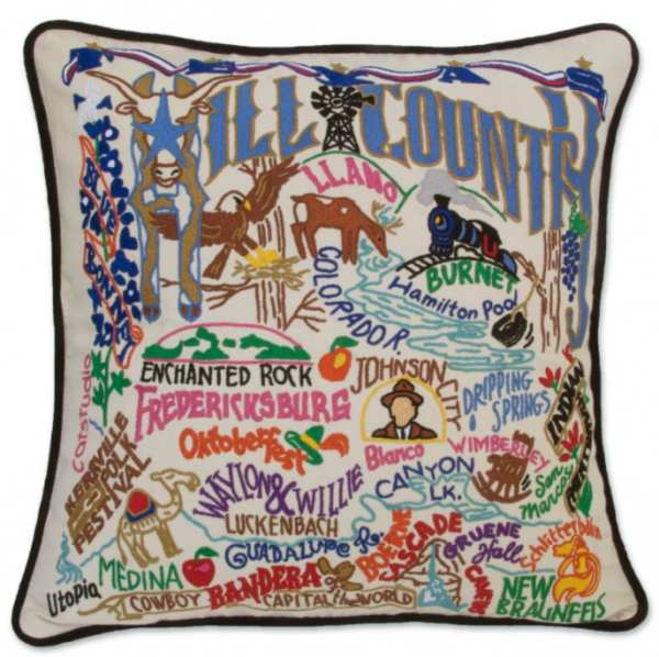 COLLEGIATE AND STATE GEOGRAPHY PILLOWS