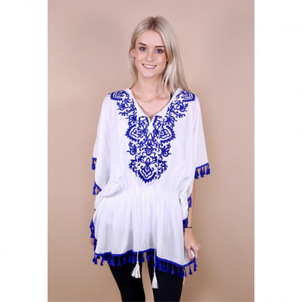 EMMALEE EMBROIDERED PONCHO