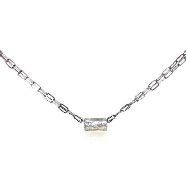 ERIN GREY BARREL ON DOUBLE NECKLACE
