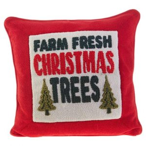 FARM FRESH TREES HOOK PILLOW