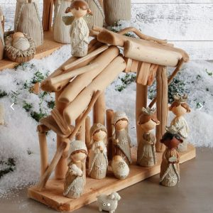 FAUX KNIT NATIVITY SET