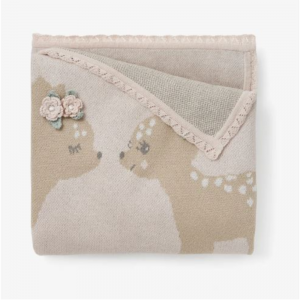 FAWN KNIT BABY BLANKET