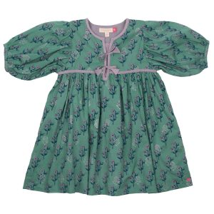 FELDSPAR GREEN FLORAL JADE DRESS