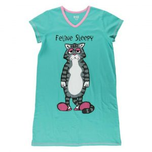 LAZY ONES FELINE SLEEPY NIGHTSHIRT