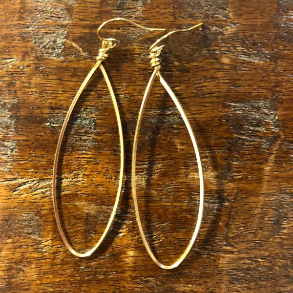 PATTY CLARKE DESIGNS GOLD FILL HOOP EARRING