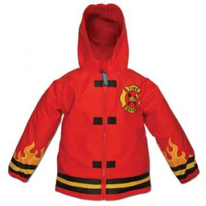 STEPHEN JOSEPH FIRE TRUCK RAIN COAT
