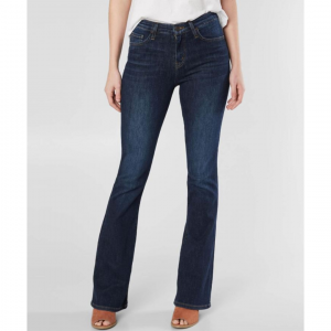 FLYING MONKEY HIGH RISE DARK DENIM FLARE JEANS