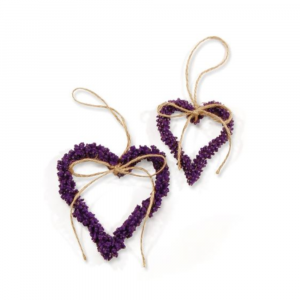 FRENCH LAVENDER HEART ORNAMENTS