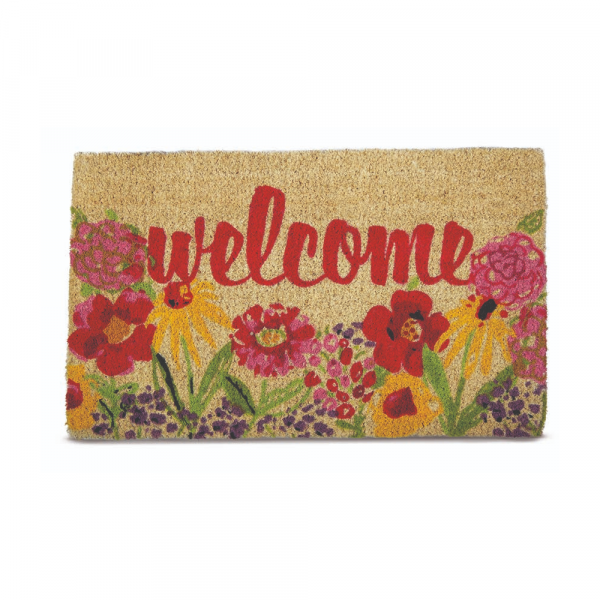 FRESH FLOWERS COIR MAT