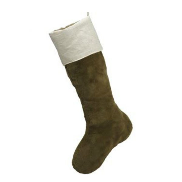FUR CHRISTMAS STOCKING - GREEN