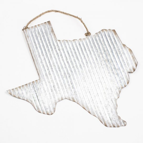 GALVANZIED TEXAS DECOR HANGER