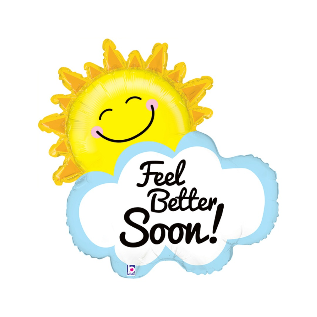 Get Well Soon Sunshine Balloon Magpies Gifts