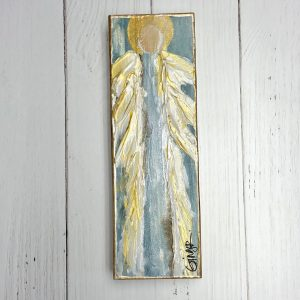 GINGER LEIGH DESIGNS LARGE TALL SERENITY ANGEL - BLUE