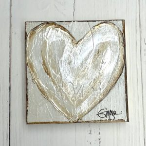 GINGER LEIGH DESIGNS MEDIUM SQUARE WHITE PURE HEART