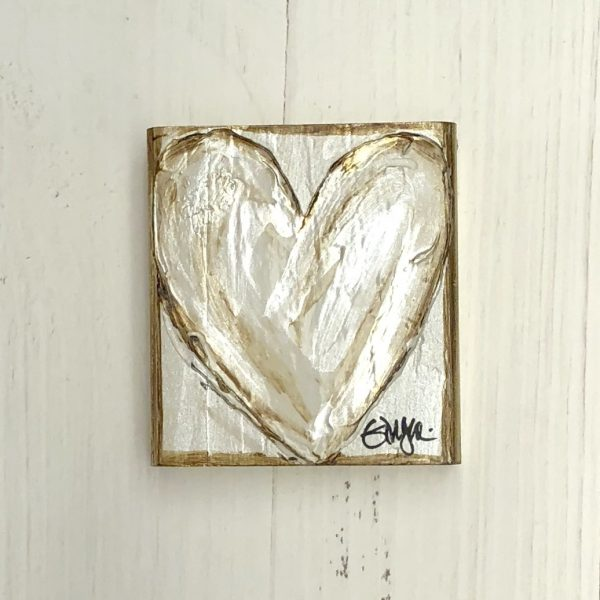 GINGER LEIGH DESIGNS SMALL WHITE PURE HEART