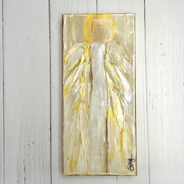 GINGER LEIGH DESIGNS XLARGE TALL SERENITY ANGEL - WHITE