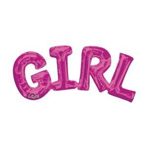 GIRL PINK BALLOON