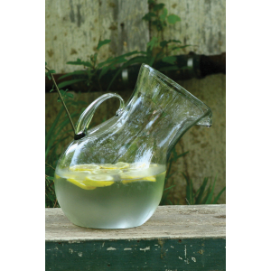 GLASS TILTED PITCHER