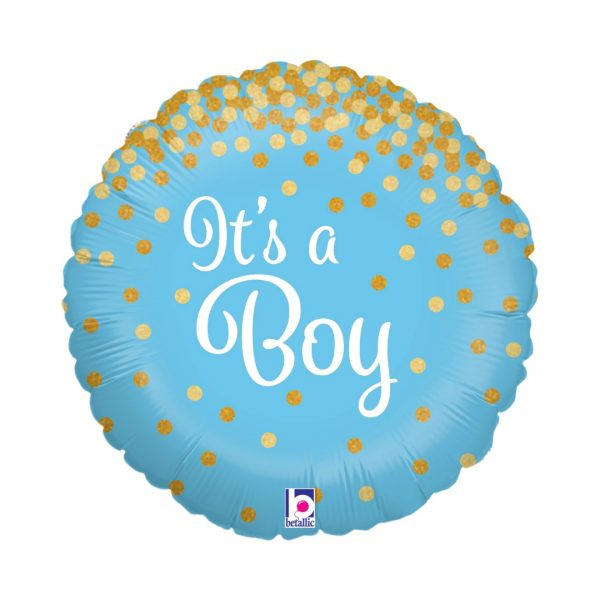 GLITTER IT'S A BOY BALLOON