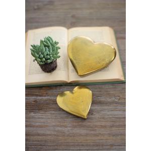GOLD CAST ALUMINUM HEART BOXES