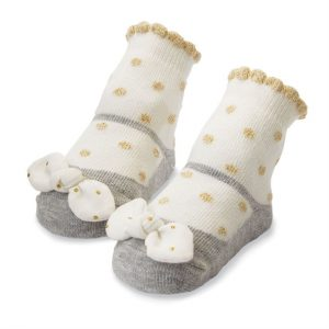 GOLD DOT BOW SOCKS