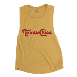 GOLD TEXAS CHICA WOMEN'S MUSCLE TANK