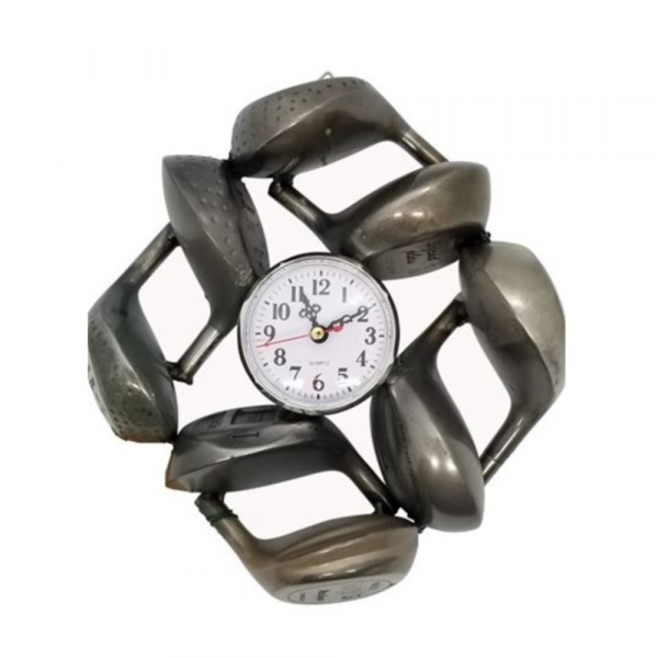 GOLF CLOCK FROM METAL WOODS